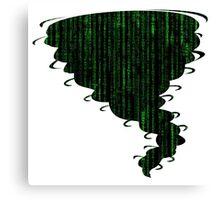 Tornado Code Canvas Print