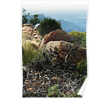 Grampians - a rocky outlook Poster