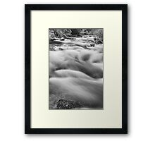 Boulder Creek In Black and White Framed Print