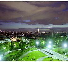 Paris at nightfall - Paris by night by StudioRenate
