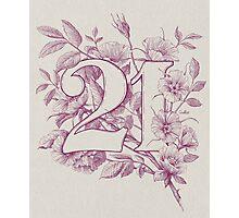 Twenty One Photographic Print