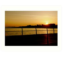 Clacton Sunset Art Print