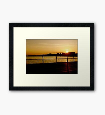 Clacton Sunset Framed Print
