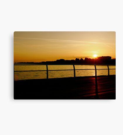 Clacton Sunset Canvas Print