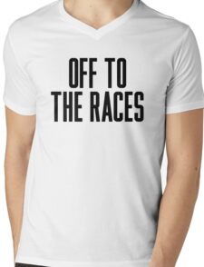 Off To The Races Mens V-Neck T-Shirt