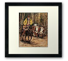 Living The Dream #4, Rounding Up The Stray Ladies  Framed Print