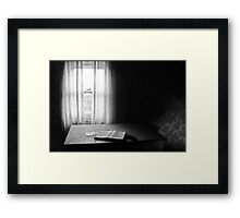 Mystery novel illuminated Framed Print