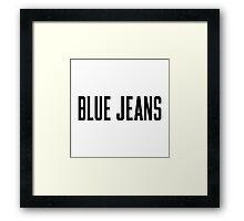 Blue Jeans Framed Print