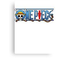 One piece logo Canvas Print