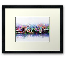 new york city skyline 3 Framed Print