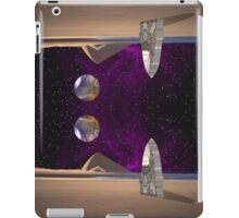 Purple light swirls round and round thinking thoughts that make no sound iPad Case/Skin