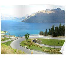 Transversely Tranquil - Lake Wakatipu Poster