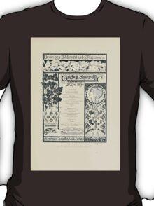 Alphonse Marie Mucha Maillard, Léon Menus and Programs, 1898 0253 Dider Des Bibliophites Cod Temporaids T-Shirt