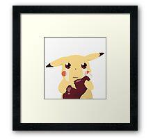 Pikachu & Ketchup Framed Print