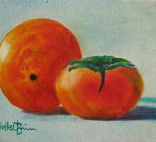 Orange and persimmon by Estelle O'Brien