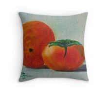 Orange and persimmon Throw Pillow