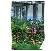 Garden on the Lake Poster