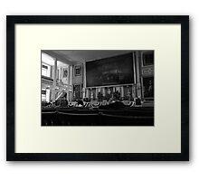 Inside the Old State House Framed Print