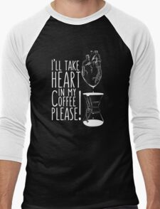 Put your heart into it man! Men's Baseball ¾ T-Shirt