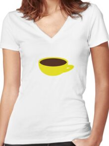banana-coffee Women's Fitted V-Neck T-Shirt