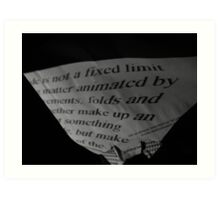 projection of type 3 Art Print