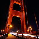 Golden Gate night scene by Tom  Marriott