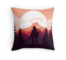 The Legend of Zelda (Orange) Throw Pillow