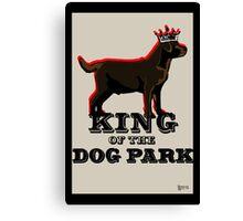 Labrador Retriever King of the Dog Park Canvas Print