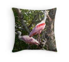 Mangrove Spoonbills Throw Pillow