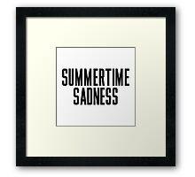 Summertime Sadness Framed Print