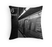86th Street Station Throw Pillow