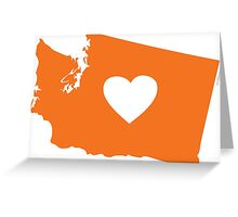 I Love Washington State Greeting Card