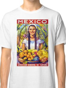 Mexico Vintage Travel Poster Restored Classic T-Shirt