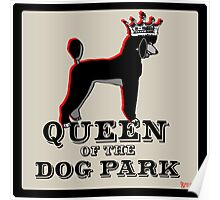Standard Poodle Queen of the Dog Park Poster
