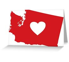 I Love Washington StateI Love Washington State Greeting Card