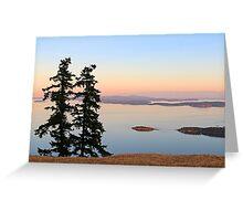 June Evening on Brown Ridge Saturna Island Greeting Card