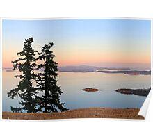 June Evening on Brown Ridge Saturna Island Poster