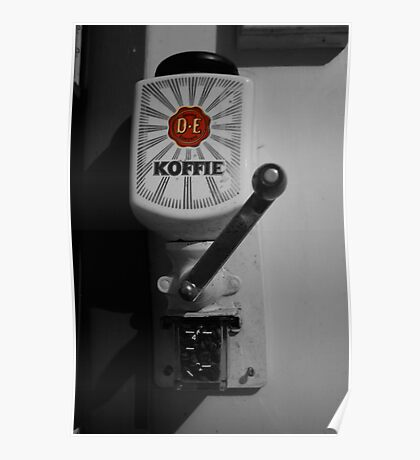 My coffee grinder and its connection to the evils of 19th-century Dutch colonialism . Poster
