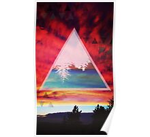 Inverted Sunset Poster