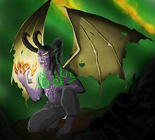 Illidan Stormrage - Warcraft  by jbrinkleyart