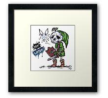 Colored Skull Link Framed Print