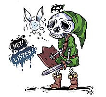 Colored Skull Link Photographic Print