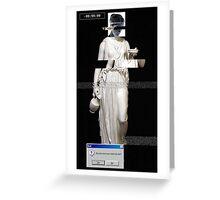 Glitched Grecian Greeting Card