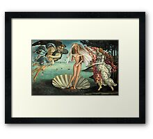 The Birth of Barbie Framed Print