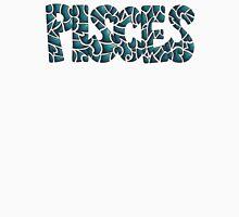 Pisces Block Letters (teal) Unisex T-Shirt