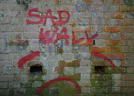 Sad wall by Roxy J