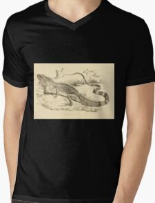 The Reptiles of British India by Albert C L G Gunther 1864 0509 Psysignathus Mentager Mens V-Neck T-Shirt
