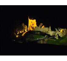 Urquhart castle at night Photographic Print