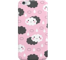 Happy Little Clouds / Pink iPhone Case/Skin