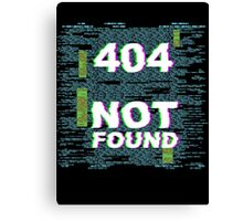 404 - Item Not Found Canvas Print